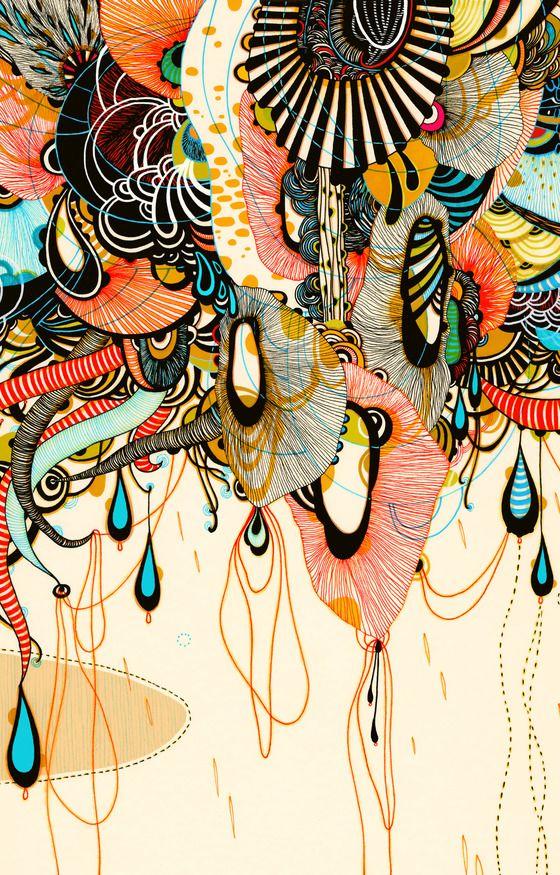 Graphic design by Yellena James- I found this pattern stirring.