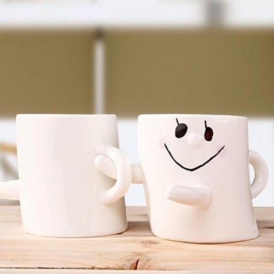 Cheap Nuevo 2 unids/lote novedad sonrisa cara de cerámica taza de té del café de porcelana de leche Drinkware regalo para cumpleaños parejas envío gratis, Compro Calidad Tazas/Mugs/Tarros directamente de los surtidores de China:                                                             Especificación:               Condición: a estre