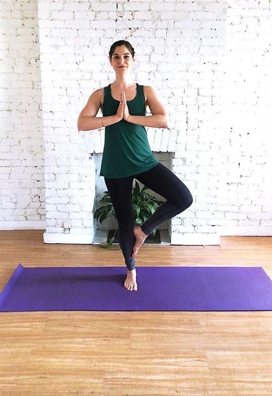 5 Standing Yoga Poses For Better Balance Standing Yoga Standing Yoga Poses Baby Yoga Poses