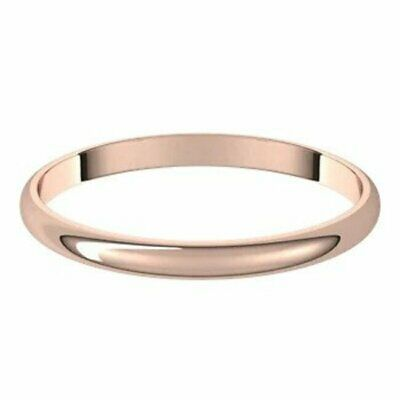 10k Rose Gold Size 7 5 2mm Wedding Band New Half Round Standard Fit Ring In 2020 Yellow Gold Wedding Band Wedding Bands Rose Gold Wedding Bands