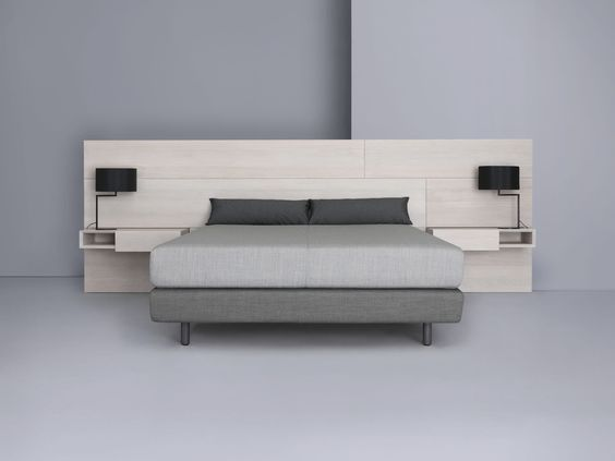 Double bed   contemporary   bed-side table - MIUT PANEL \ BOX by - designer mobel kollektion