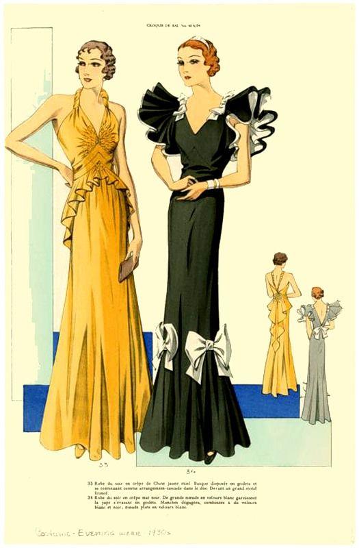 Платья 30х годов 20 века америка