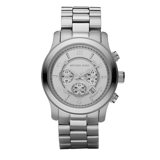 Michael Kors Michael Kors Silver Oversized Runway Watch  $225 - 5 Faves for Fall on InStyle