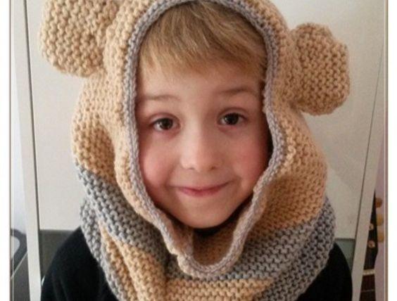 Strickanleitung Loopbärenmütze für Kinder und Erwachsene ab 8 Jahre