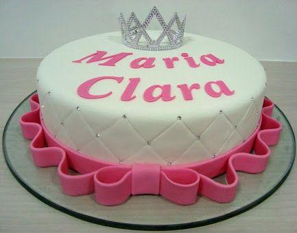 bolo decorado rosa 1 andar - Pesquisa Google