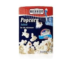 Salty mcennedy popcorn magnetron microwave snack