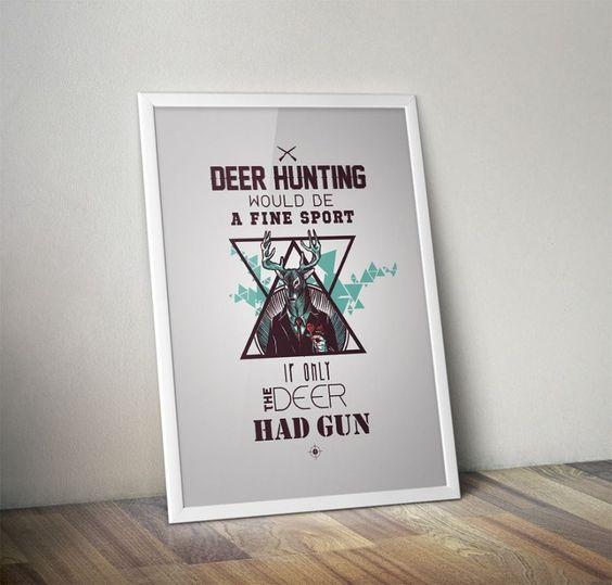 Deer Hunting Poster Zet.com'da 39.90 TL