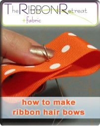 how to make ribbon hair bows...for little girls:)