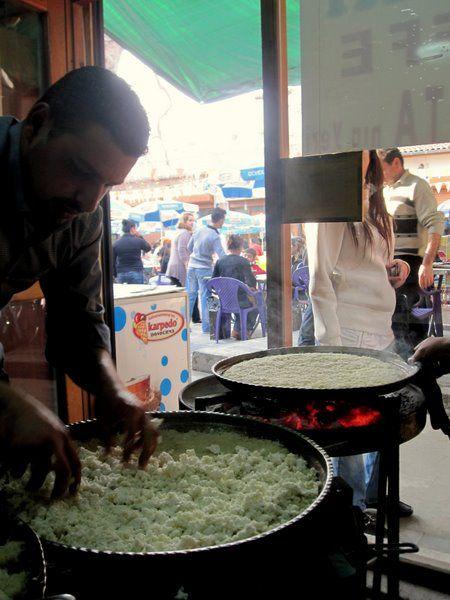 making kunefe - Antakya: Turkish Travels, Kunefe Antakya, Hatay Antakya, Making Kunefe, Turkey Photographs