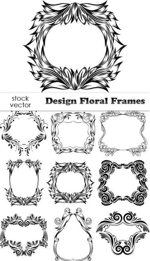 Векторный клипарт - Design Floral Frames