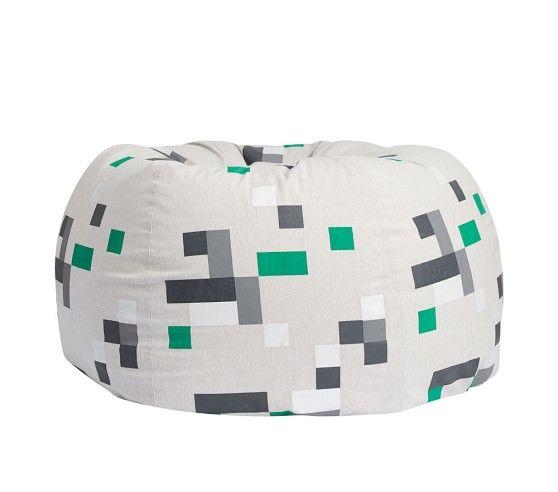Minecraft Pixel Anywhere Beanbag Pottery Barn Kids Washable Slipcovers Bean Bag Chair Kids Bean Bag Chair Pottery Barn