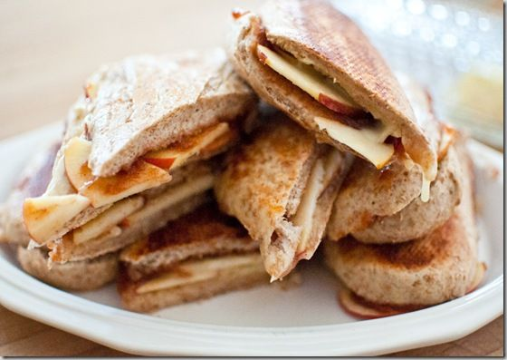 Apple, Apple Butter, and Brie Paninis