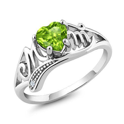 Sterling Silver 925 Ladys Engagement Ring Cocktail Wedding Band Garnet /& Peridot