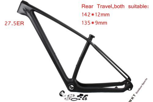 Carbon cycling 27.5 #mountain bike #frame  mtb bicycle #frame #size15/17/19 142*12,  View more on the LINK: http://www.zeppy.io/product/gb/2/331788546474/