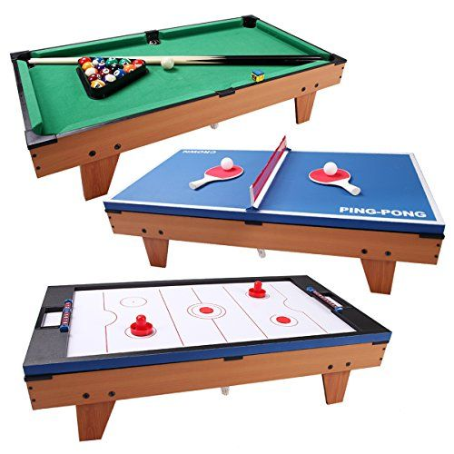 Giantex Multi Game Table Pool Hockey Foosball Table Tennis Billiard Combination Game Table 3 In 1 Air Hockey Tables Air Hockey Multi Game Table Billiards