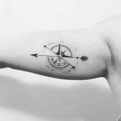 Disenos De Brujulas Para Hombres 5 90 Tatuajes De Brujulas Para Hombre Tatuaje Geometrico De Flechas Diseno De Tatuaje De Compas Diseno De Tatuaje De Flecha