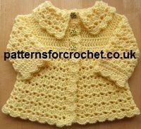 Free Baby crochet pattern matinee coat from http://www ...