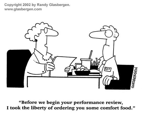 Performance Reviews  Food  Human Resources Funnies