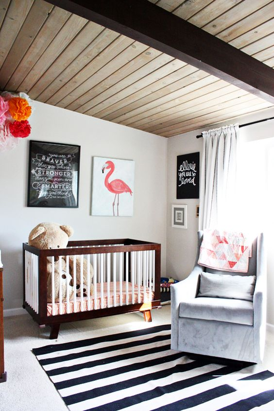 Flamingo Baby Bedroom: Cribs, Flamingos And Grey Chair On Pinterest