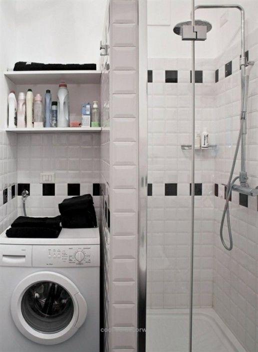 Washing Machine Niche Prefabricated Shower Stall Small Bathroom Ideas Small Bathroom Solutions Bathroom Design Small Bathroom Layout