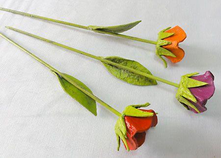 Como fazer tulipas usando caixas de ovos