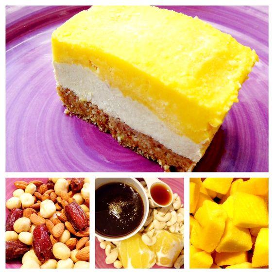 raw mango cheesecake!