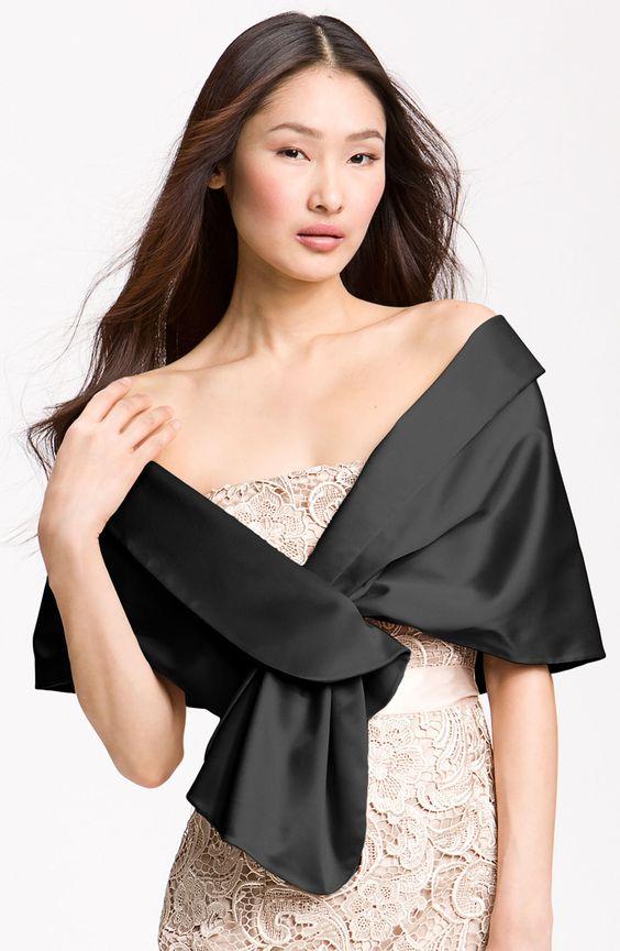 como combinar casacos e vestidos para casamento a noite
