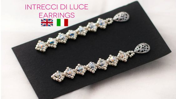ITALIAN - ENGLISH PDF Pattern Intrecci di Luce Necklace with Seed beads and Swarovski