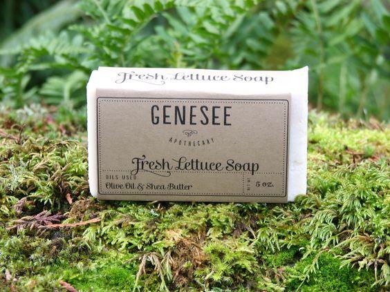 Fresh Lettuce Soap. $5.00, via Etsy.