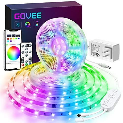 Govee Color Changing 32 8ft Led Strip Lights Bluetooth App Control Remote Control Box Led Music Light Led Strip Lighting Strip Lighting Rgb Led Strip Lights