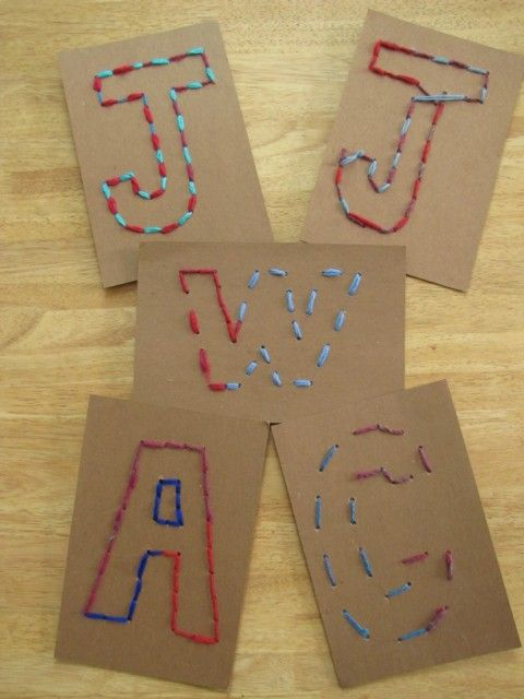 This was a fun project the kids did at the preschool this week. I wanted to come up with a simple stitching craft that would give me an idea where the children are with their understanding of sewing. It also...