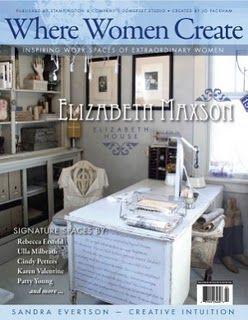 This issue featured Elizabeth Maxson's studio...very inspiring!