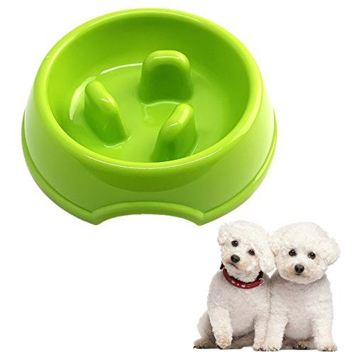 Kangkang 3 Columns Style Antigulping Dog Bowl Anti Choke Plastic