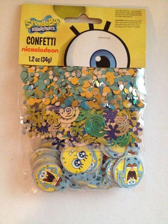 Nickelodeon Spongebob SquarePants 3 Pack Confetti Birthday Party Supply Favors