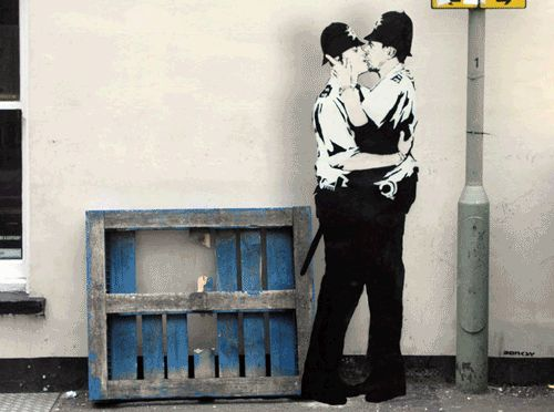 Banksy Street Art in Animated GIF3