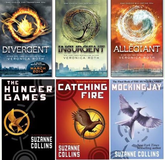 ❤️ I love the Hunger Games and Divergent series. If anyone hasn't read them they should.