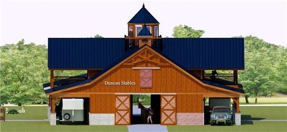 Barn with living quarters a dream and my boyfriend on for Horse stable plans with living quarters