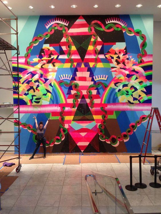 MAYA HAYUK http://www.widewalls.ch/artist/maya-hayuk/ #contemporary #art #streetart