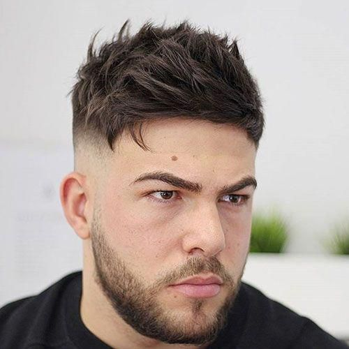 Textured Messy Top High Bald Fade Menshaircuts Thick Hair Styles Mens Hairstyles Short Older Mens Hairstyles