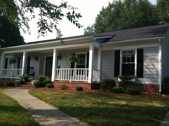 Red Brick Gray Siding Black Shutters New Home Stuff