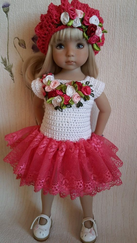 "Outfit for doll 13"" Dianna Effner Little Darling hand made #DiannaEffner:"
