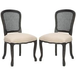 Dark oak dining chairs (set of 2) $358