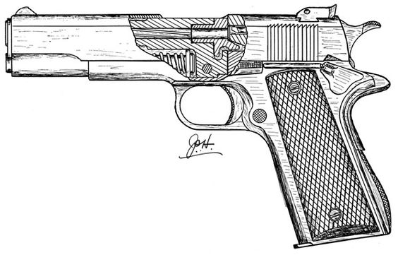 1911 Pistol Drawings Images & Pictures - Becuo