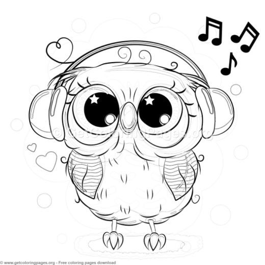 19 Cute Owl Coloring Pages Free Instant Download Coloring