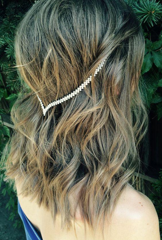 Clip-en joyería del pelo pelo delicado por BellaViaDesigns en Etsy