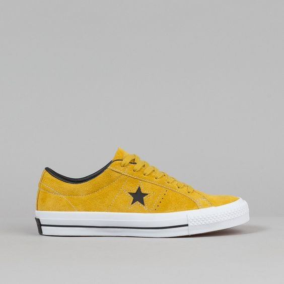 Converse One Star Pro Ox QS Shoes - Yellow Bird / Black / White | Flatspot - Shoe perfection.