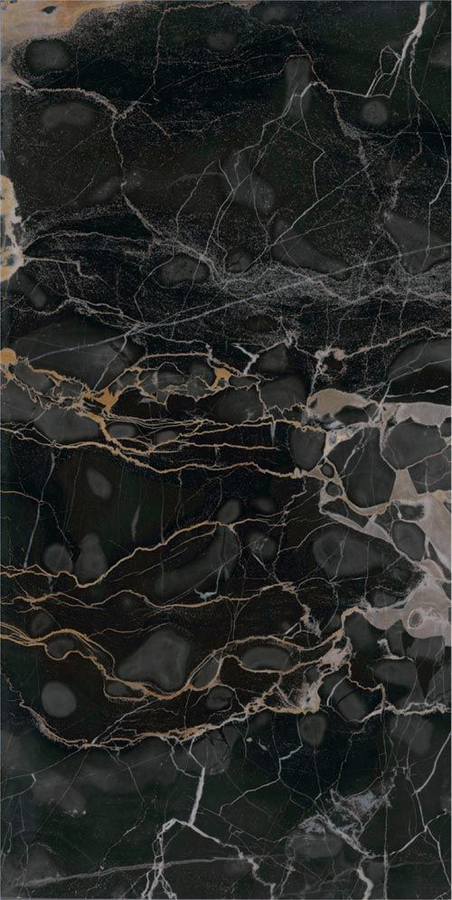 ✖ Porcelain Tile: Nero portoro a: Precious stones ---- Possible vertical surface for dining area wall; opposite of fireplace wall