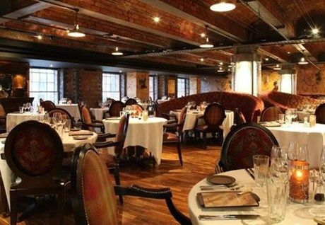 James Martin Sumptuous interior design meets stark industrial functionality at James Martin's restaurant within the mammoth cast iron and brick Victorian railway goods warehouse that's home to the Manchester 235 Casino.