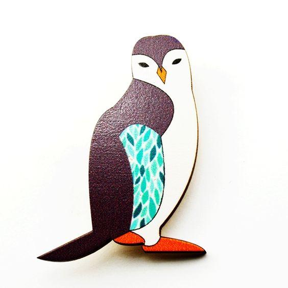 hardtofind. | Penguin brooch