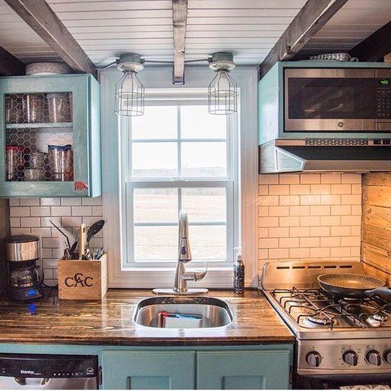 @katiefaithfitness tiny house kitchen ❤️ or  ?